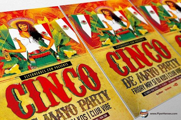 cinco de mayo flyer template 3 flyer templates creative market