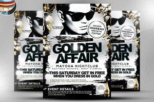 Golden Affair PSD Flyer Template