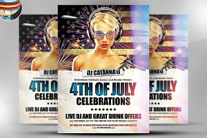 4th July Flyer Template