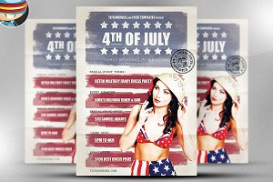 Vintage 4th July Flyer Template