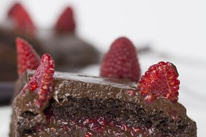 Healthy Chocolate and Rasberry Cake