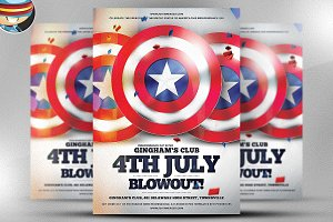 4th July Blowout Flyer Template