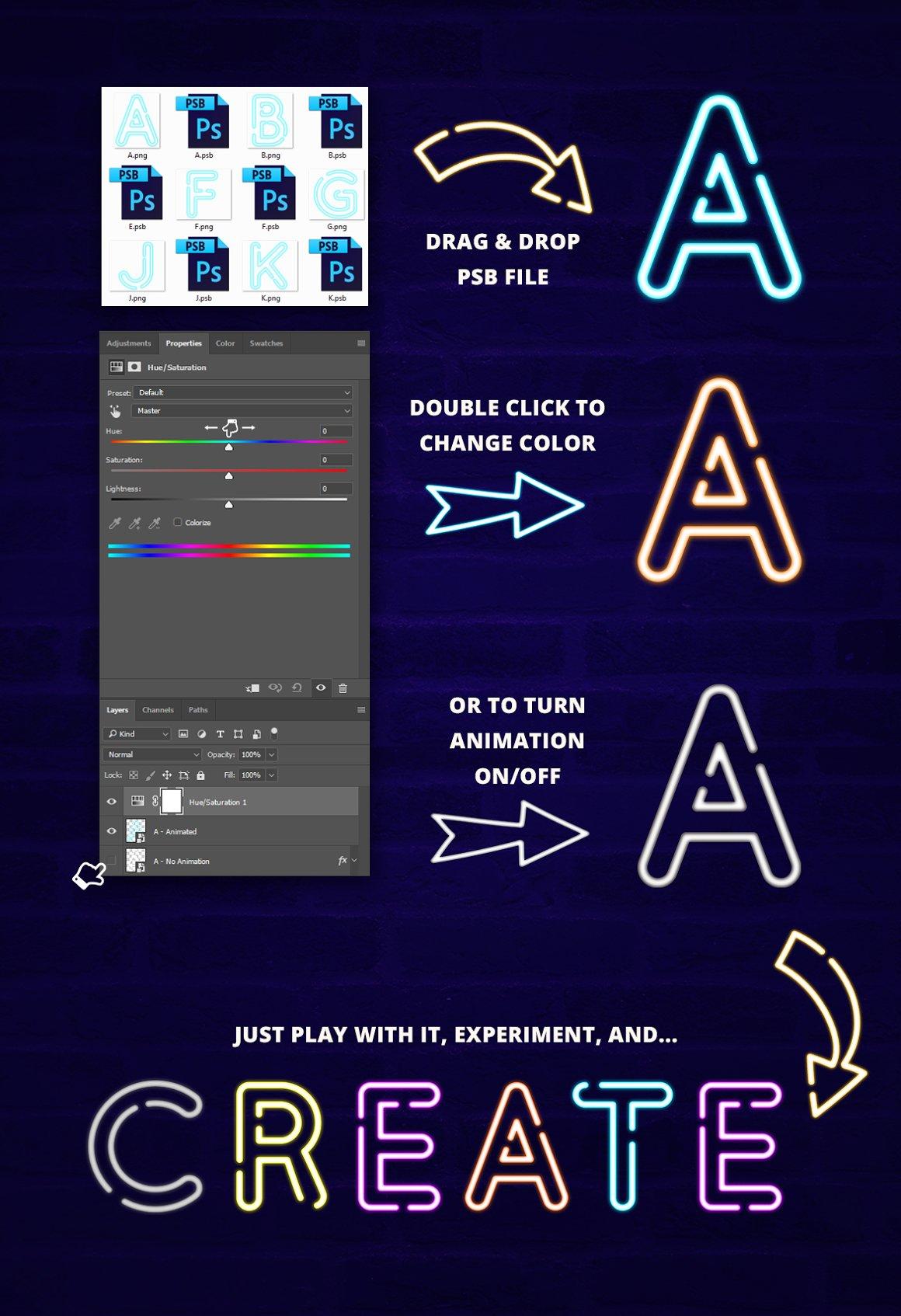 ANIMATED - Neon Social Media Kit