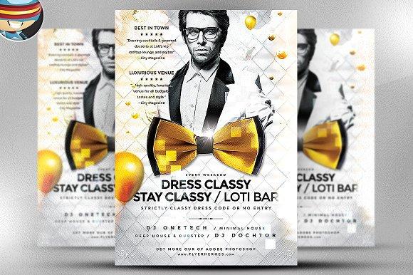 Dress Classy Stay Classy Flyer
