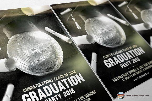 Graduation Flyer Template Flyer Templates Creative Market