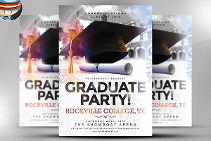 Graduate Party Flyer Template
