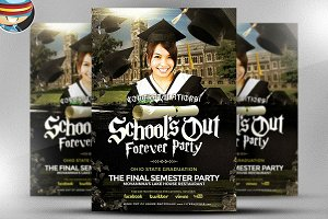 School's Out Forever Flyer Template