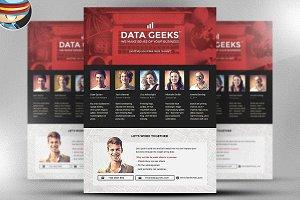 Data Geeks Flyer Template
