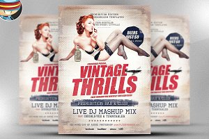 Vintage Thrills Flyer Template