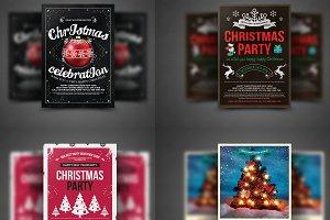 10 Christmas Flyers Bundle
