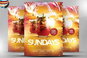 Sizzlin Sundays Flyer Template