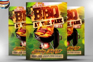 Summer BBQ Flyer Template