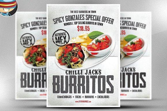 Chilli Jack's Burrito Poster