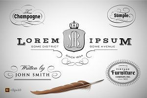 Calligraphic Design Elements vol.1
