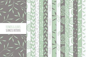 Floral Seamless Patterns - Green