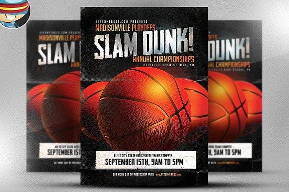 Slam Dunk Flyer Template