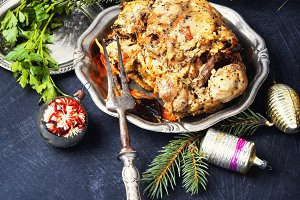 christmas baked meat