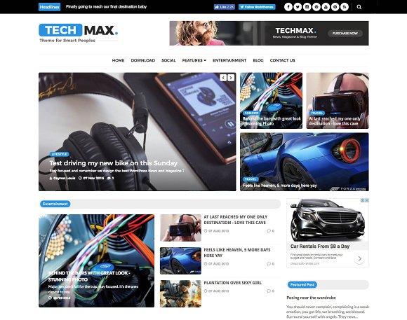 Techmax Technology Blogger Template Website Templates Creative
