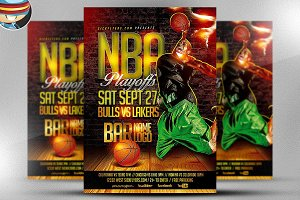 NBA Playoffs Flyer Template
