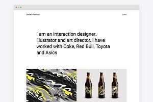 Design Portfolio Tumblr Theme