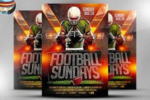 Football Sundays Flyer Template