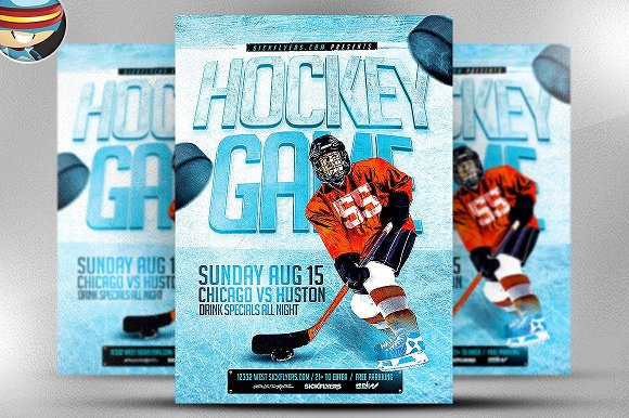 Ice Hockey Flyer Template ~ Flyer Templates ~ Creative Market