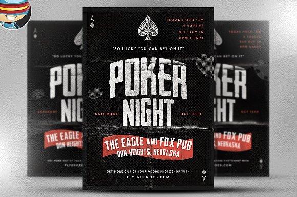 Vintage Style Poker Flyer Template