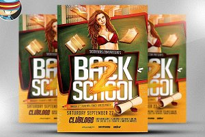 Back to School Flyer Template 2