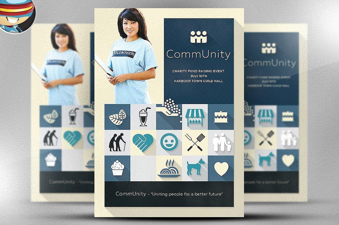 community flyer template flyer templates creative market