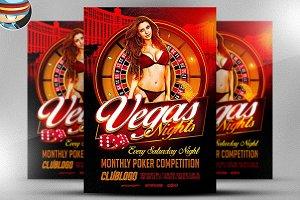 Vegas Nights Flyer Template