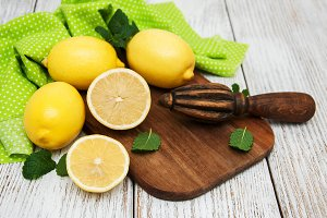 Fresh ripe lemons