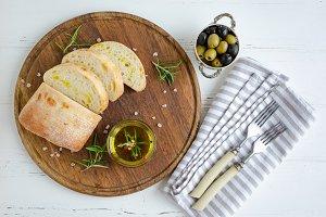Mediterranean snacks set.