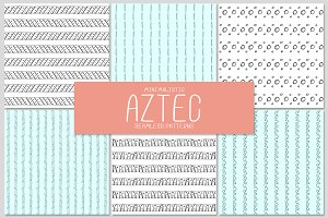 6 AZTEC seamless patterns