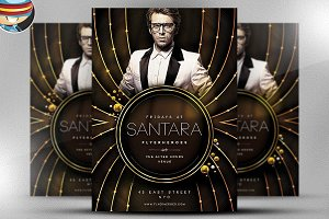 Sanatara PSD Flyer Template