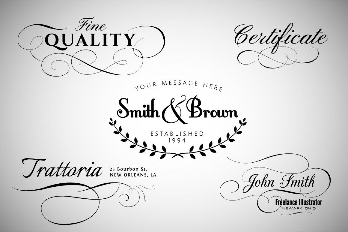 Calligraphic Design Elements Vol2 Illustrations Creative Market