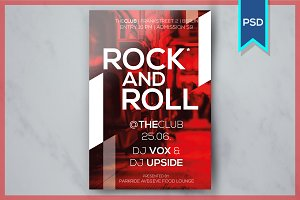 Rock and Roll Party Flyer Template