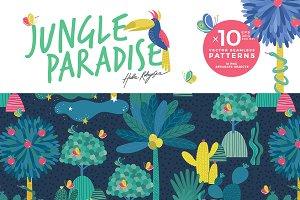 Jungle Paradise vector pattern