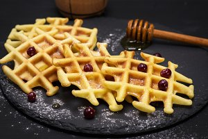 baked Belgian waffles