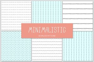 6 MINIMALISTIC seamless patterns