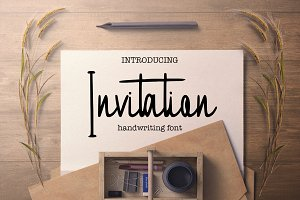 Invitation handwritten font