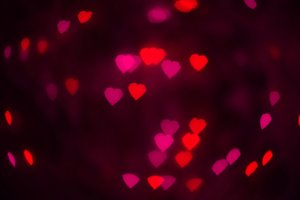 Pink and red hearts texture
