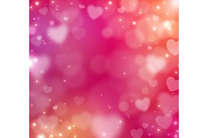 Valentine blur abstract background