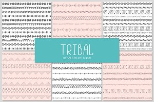 6 TRIBAL seamless patterns