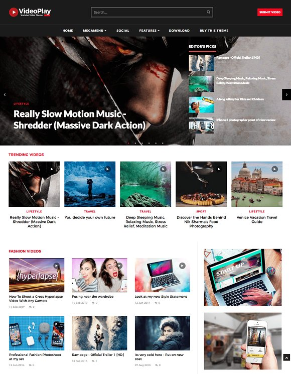 VideoPlay Video Blogger Template