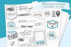 Travelers notebook stickers