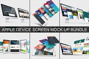 Apple Device Screen Mock-Up Bundle