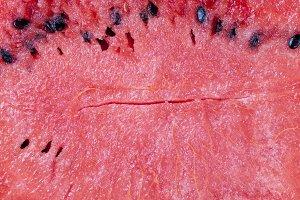 watermelon , flesh middle