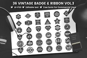 36 VINTAGE BADGE & RIBBON Vol.8