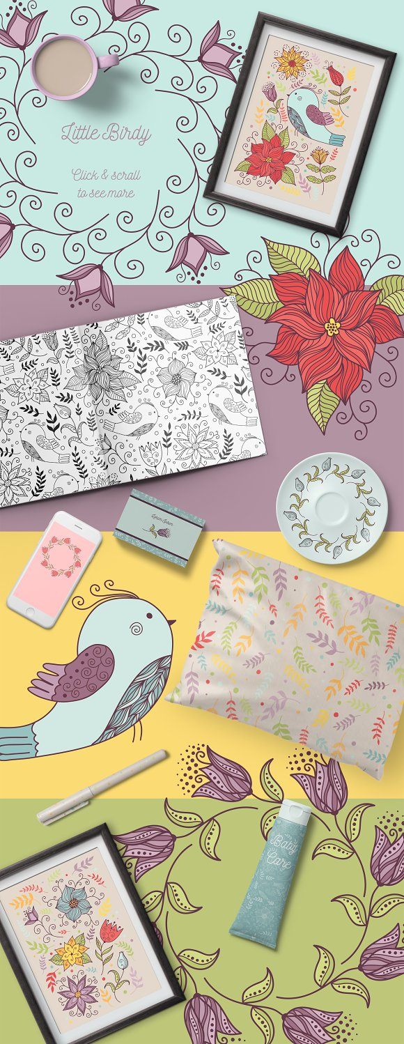 Little Birdy - Doodles and patterns
