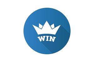 Win flat design long shadow glyph icon